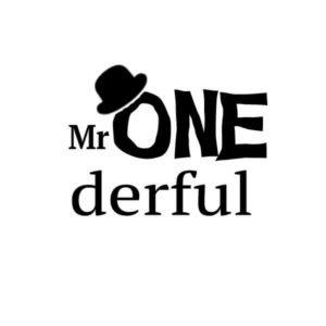 strijkapplicatie verjaardag mr ONEderful. Maak een gaaf verjaardagsshirt met een afbeelding of een tekst met onze strijkapplicaties.